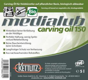 KETTLITZ-Medialub Carving Oil 150 -Kettenöl für Holzschnitzer - Kanister 5 Liter