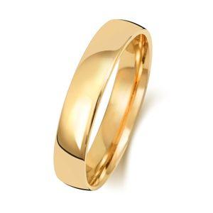 9 Karat (375) Gold 4mm Slight Court Form Herren/Damen - Trauring/Ehering/Hochzeitsring, 67 (21.3); WJS151119KY