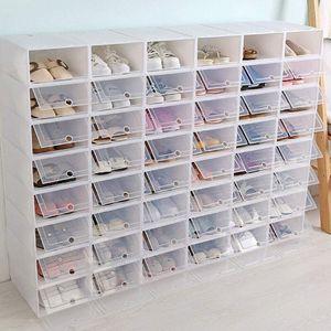 20 teilig Faltbare Schuhbox Aufbewahrungsboxen Schuhablageboxen Boxen Schuhkarton Stapelbox Schuhkasten Verdickte Flip 33 * 23 * 14 cm