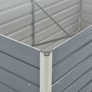 vidaXL Hochbeet 160 x 80 x 45 cm Verzinkter Stahl Grau