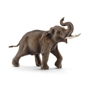 Schleich - Tierfiguren, Asiatischer Elefantenbulle; 14754