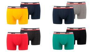 LEVI'S Herren Boxershorts 200SF Sportswear Logo 2er PACK BOXERS 985016001, Größe:L, Textilien Form Farbe Levis:Dress Blues