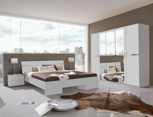 Wimex Schlafzimmer Anna komplett  Bett 180x200cm 4-teilig weiß