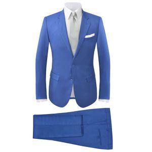 vidaXL 2-tlg. Herren-Anzug Königsblau Größe 46