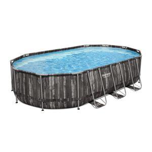 Bestway Power Steel™ Frame Pool Komplett-Set, oval, 610x366x122cm, 5611R