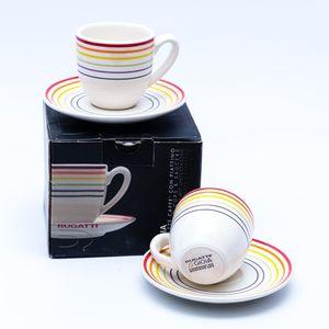 Bugatti Gioia Espressotassen Set mit Untertassen kleine Kaffee Tassen Becher