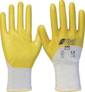 NITRAS Handschuhe 03405 Größe 11 weiß/gelb EN 388 PSA-Kategorie II