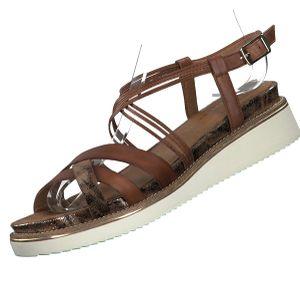TAMARIS Damen Leder Sandalen Braun, Schuhgröße:EUR 40