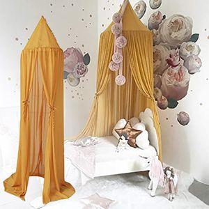 Bed Canopy Baby Canopy Chiffon Insektennetz Dekoration Moskitonetz für Cot-Pink gelb CHA210303805