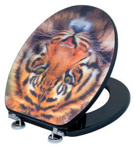CORNAT WC-Sitz 3-D Tiger Nachbildung, KSD707