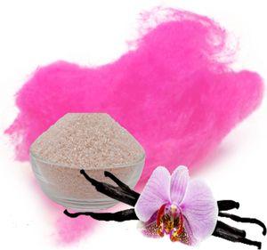 Aromazucker für bunte Zuckerwatte mit Geschmack | Vanille - Pink 100g | Farbzucker Zucker für Zuckerwatte Zuckerwattemaschine Zuckerwattezucker