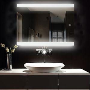 LED Badezimmerspiegel Badspiegel Wandspiegel Anti-Beschlag 70*50cm