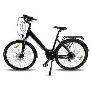 "Sidney Urbanbiker City E-Bike 26""  504 Wh Akku, Unisex City Pedelec 250W Motor| Farbe: schwarz"