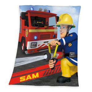 Feuerwehrmann Sam Kuscheldecke / Fleecedecke / Decke, 100% Polyester, 130x160 cm