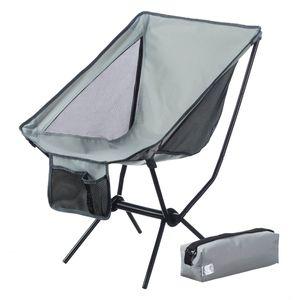 Moon Chair Campingstuhl - faltbarer Campinghocker Moonchair - extrem leicht & kompakt - Grau