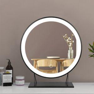 Schminkspiegel Kosmetikspiegel mit LED Beleuchtung Make Up Schminkspiegel Schminktisch Beleuchtung 40cm schwarz (Kaltes weißes Licht)