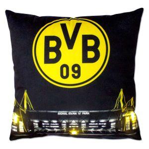 BVB 09 Kissen mit LED 40 x 40 cm SCHWARZ/GELB -