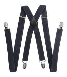 axy® Dunkelgrau Herren Hosenträger mit 4 Stabile Clips X-Form länge verstellbar Hochzeit-Business Outfit