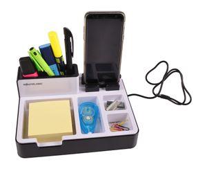 Soundlogic Schreibtisch-Organizer USB-Anschlüssen Tischladestation Stiftehalter