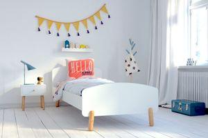 Nachtkommode 1 Schublade Kinderkommode Weiß Kinderzimmermöbel