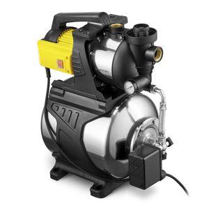 TROTEC Hauswasserwerk mit Filter TGP 1050 E in Edelstahlausführung Wasserwerk 1000 W Leistung 3300 l/h  Förderleistung 3 bar Wasserpumpe Pumpe Gartenpumpe Hauswasserpumpe Hauswasserautomat