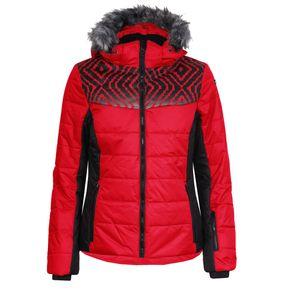Skijacke Damen Icepak Wasserabweisend, Farbe:Rot, Damen Größen:42