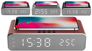 Echos Uhrenwecker Wireless Charger Smartphone Kabelloses Aufladen Handy Uhren Wecker
