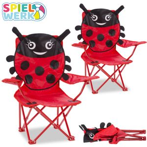 DEUBA Gartenstuhl Set Beetle    bis 50kg   Armlehne  HxBxT 61x56x34cm  klappbar Camping Picknick Kinderzimmer Klappstuhl für Kinder