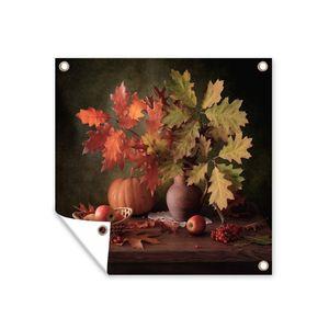 Gartenposter - Blätter - Früchte - Stillleben - 100x100 cm