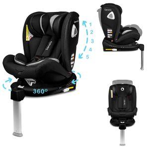 Lionelo Braam Kindersitz Isofix und Stützfuß oder Autogurte Kindersitz Auto 0-36 kg Rückwärts und Vorwärts gerichtete Fahrt 360 Grad drehbar Seitenschutz