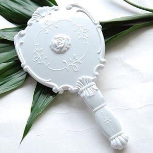 Boolavard® TM Vintage Rose Kosmetik Spiegel plastische Make-up Spiegel Geschenk niedliche Mädchen Hand Make Up schwarz, weiß, Rosa (schwarz)