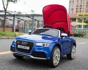 Kinderauto XXL Audi RS 5 - Elektroauto Kinderfahrzeug elektronisch - LED, Leder, Fernbedienung, Akku - Blau-Metallic, Cabrio Verdeck