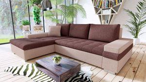 Mirjan24 Ecksofa Bangkok Mini, Moderne Eckcouch für Wohnzimmer, Schlaffunktion und Bettkasten, Gästezimmer, L-Form Sofa (Kamet 11 + Kamet 10 + Kamet 11)