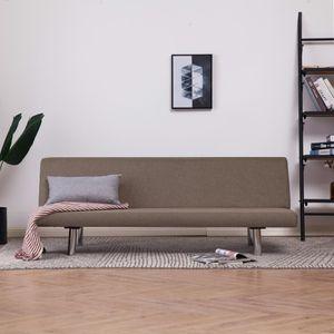 【Neu】Schlafsofas Schlafsofa Taupe Polyester Gesamtgröße:168 x 76 x 66 cm BEST SELLER-Möbel-Sofas im Landhaus-Stil