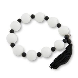 PEARLS FOR GIRLS Damen Perlen-Armband schöner Armschmuck mit Achat Weiß