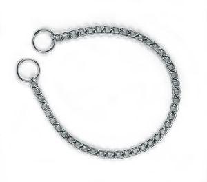 Halskette einfach 4 mm, 60 cm verchromt, 60 cm