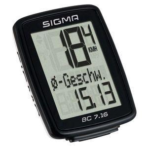 Sigma Fahrradcomputer BC 7.16 Schwarz 7160