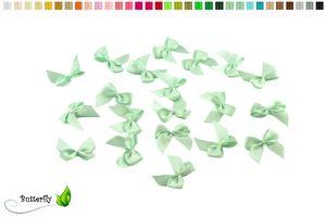 Satinschleifen 25mm, 20 Stück, Farbe:mint - aqua 513