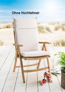 Destiny Pro Auflage in Natur für Hochlehner Klappsessel Polsterauflage Polster für Sessel - Ohne Hochlehner -