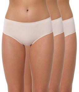 """Yenita® Hüftslips """"Invisible"""" aus Mikrofaser 3er Pack S skin"""