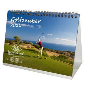Golfzauber DIN A5 Tischkalender für 2021 Golf und golfen - Seelenzauber