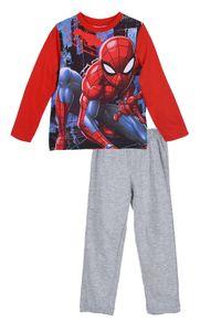 Spider-Man Kinder Schlafanzug mit Motiv, 2-teilig, rot-grau, Größe:128
