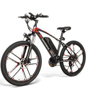 """SAMEBIKE 26"""" SM-26 48V 8AH Elektrofahrrad Mountainbike E-Bike 350-W Power 30km/h Trekking Bike bis 150kg--Schwarz"""