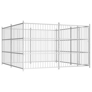 Perfekt® Outdoor Hundezwinger/Hundebedarf/Hundehütte/Hundekäfig/Hundehaus Ausläufe für Katzen,Hunde 300×300×185 cm🍹8713