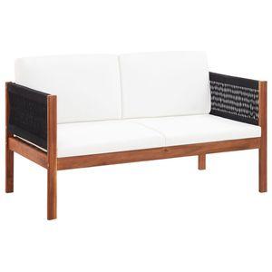 vidaXL Gartensofa 2-Sitzer Massivholz Akazie
