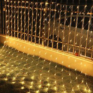 VINGO 4.5*1.6M LED Lichternetz Lichterkette  mit 300 LEDs Weihnachten mit Steuerbox