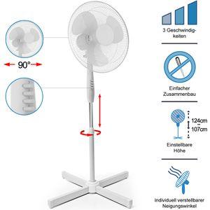 Standventilator - 3 Stufen - höhenverstellbar - drehbar - Ø 40cm