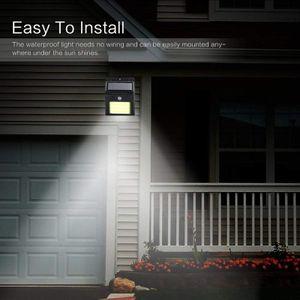 4x Solarlicht 30 LED, Solarlicht mit Bewegungsmelder, wasserdichte Solar-Sicherheitswandleuchte für den Außenbereich