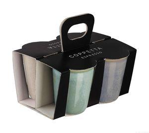 ASA 4er Set Espressobecher, Effektglasur COPPETTA D. 6,5 cm, H. 7 cm, im Geschenkkarton 44600214