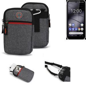 K-S-Trade Gürtel-Tasche für Gigaset GX290 Handy-Tasche Holster Schutz-hülle grau Zusatzfächer 1x